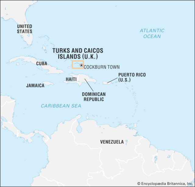 Turks and caicos map from britannica 1