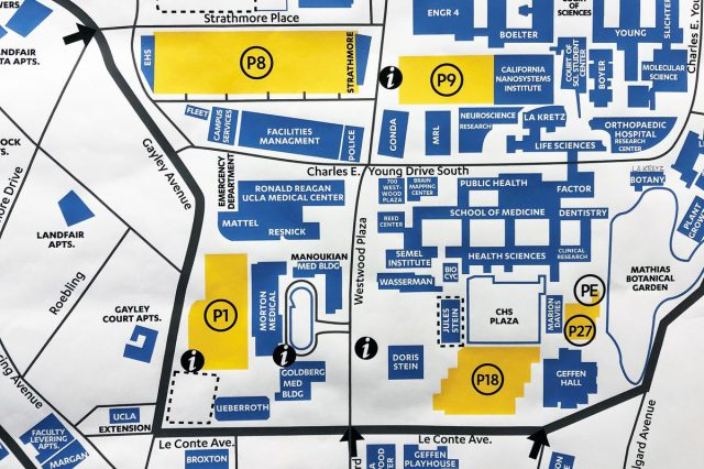 Ucla parking map from newsroom 1