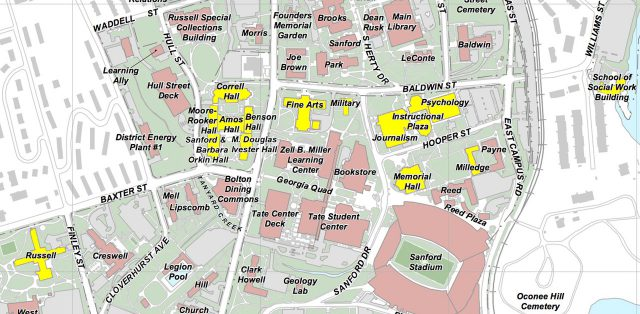 Uga Campus Map