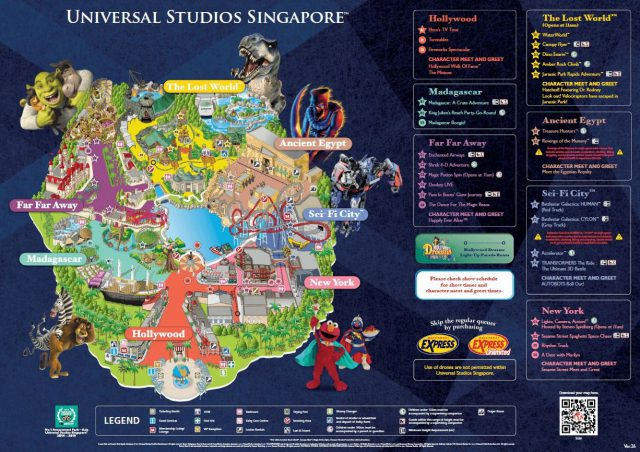 Universal studio singapore map 2020 from pinterest 1