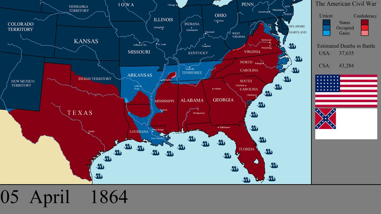 Us Map Civil War From M 3