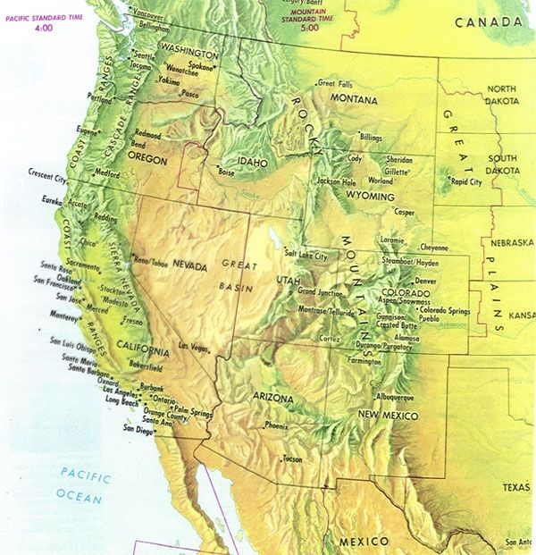 Us mountain ranges map from pinterest 2