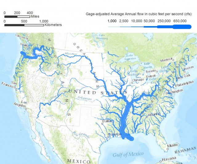 Us River Map