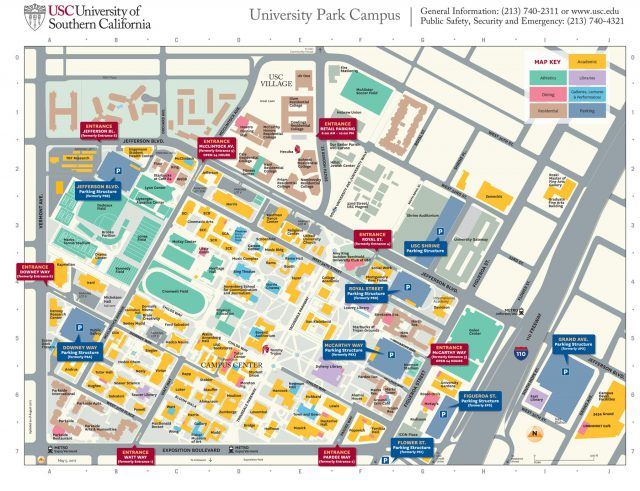 Usc campus map from news 1