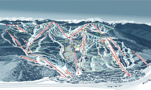 Vail trail map from vail 1