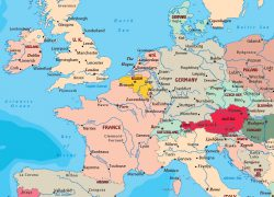 Western Europe Map: Western europe map from geographicguide 1