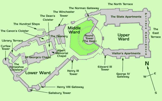 Windsor castle map from thamesweb 1