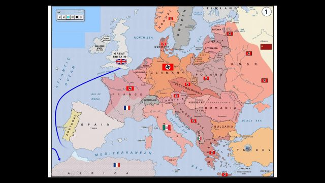 Ww2 map of europe from youtube 1