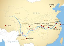 Yangtze River Map: Yangtze river map from chinahighlights 1