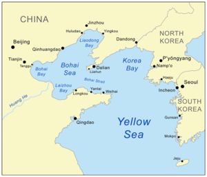 Yellow sea map from en 1