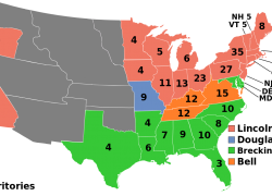 Abraham Lincoln Election Map: Abraham lincoln election map from en 1