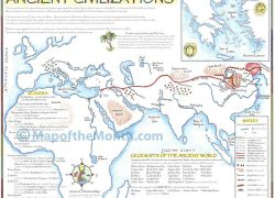 Ancient civilizations map from mapofthemonth 4