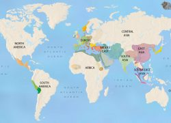 Ancient civilizations map from timemaps 7