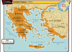 Ancient Greece Geography Map: Ancient greece geography map from nsms6thgradesocialstudies 2