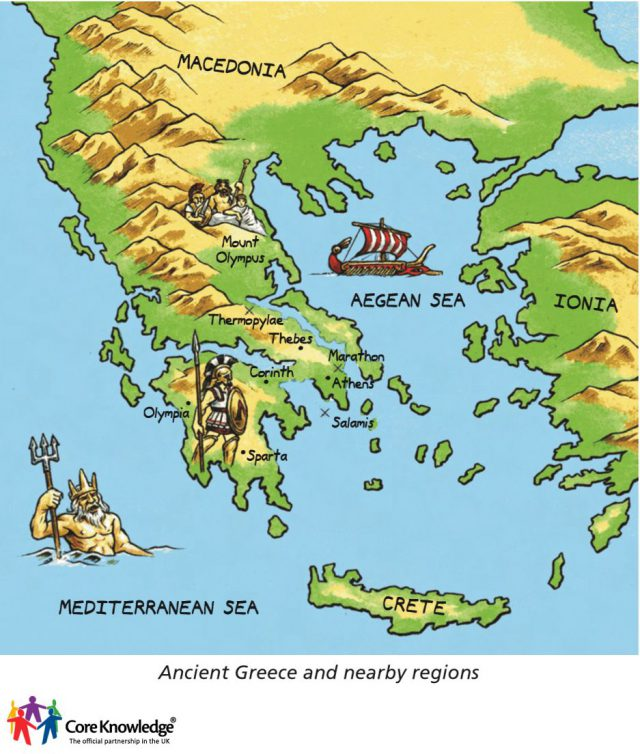 Ancient Greece Geography Map