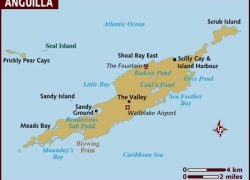 Anguilla Map: Anguilla map from lonelyplanet 1
