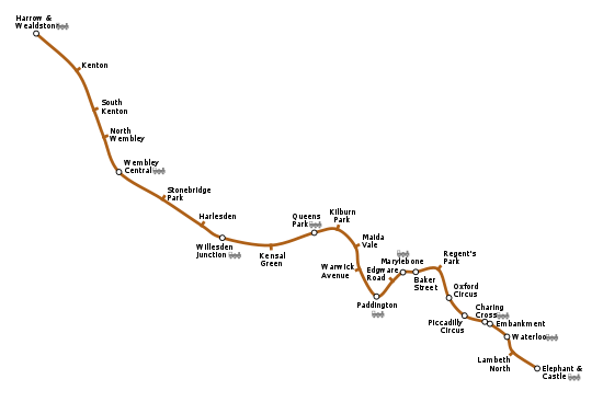 Bakerloo line map from en 1