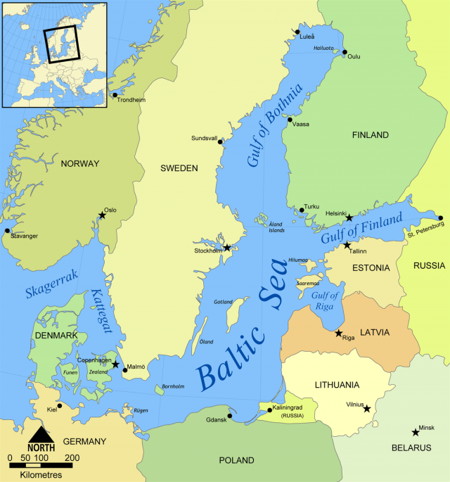 Baltic Sea Map