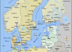 Baltic Sea Map: Baltic sea map from nationsonline 1
