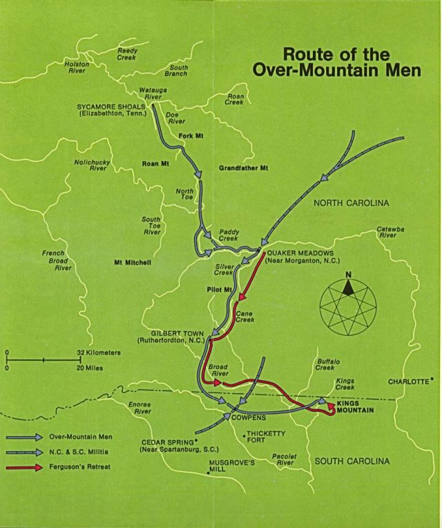 Battle Of Kings Mountain Map