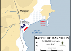 Battle of marathon map from commons 3