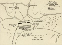 Battle Of Marathon Map: Battle of marathon map from history 2