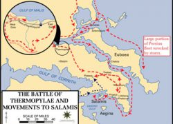 Battle Of Thermopylae Map: Battle of thermopylae map from study 1