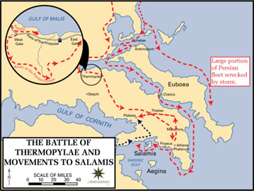 Battle of thermopylae map from study 1