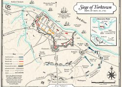Battle Of Yorktown Map: Battle of yorktown map from mountvernon 2