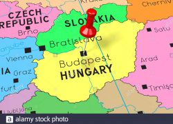 Budapest Map: Budapest map from alamy 1