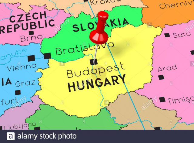 Budapest map from alamy 1