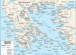 Classical Greece Map: Classical greece map from britannica 1