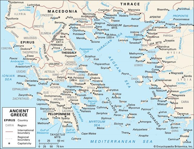 Classical greece map from britannica 1