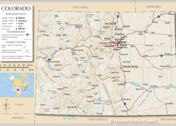 Colorado Map: Colorado map from nationsonline 1