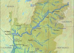 Colorado River On A Map: Colorado river on a map from americanrivers 1