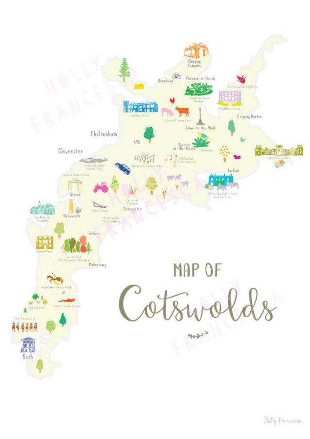 Cotswolds Map