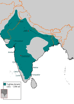 Delhi sultanate map from en 1