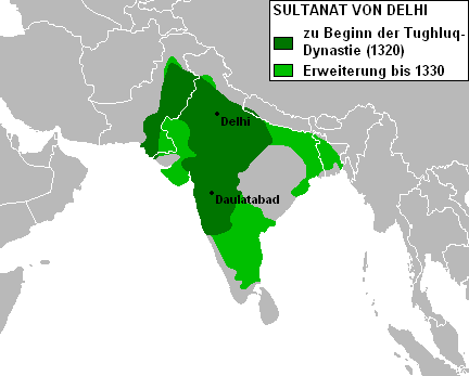 Delhi Sultanate Map