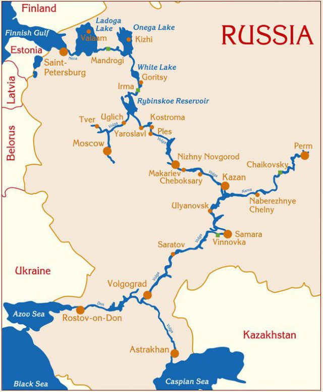 Dnieper River Map