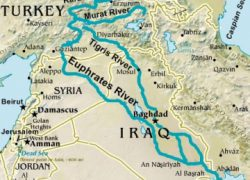 Euphrates River Map: Euphrates river map from biblestudy 1