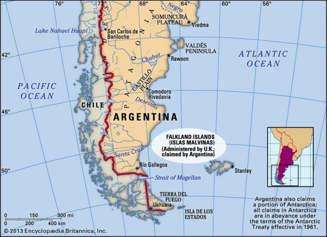 Falkland islands map from britannica 1