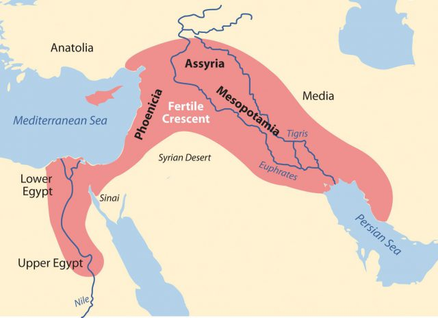Fertile Crescent Map