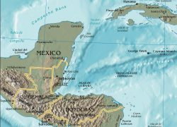 Gulf Of Honduras Map: Gulf of honduras map from en 1