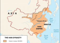Han Empire Map: Han empire map from britannica 1