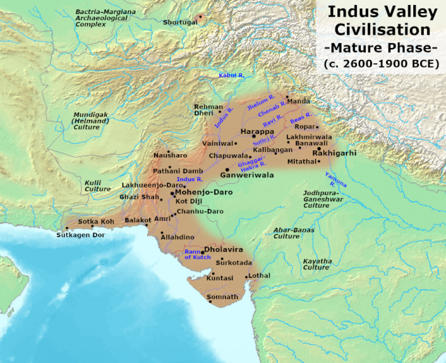 Harappa And Mohenjo-daro Map