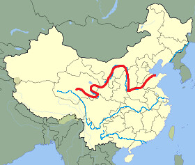 Huang he river map from flickr 1