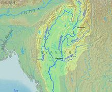 Irrawaddy River Map: Irrawaddy river map from en 1