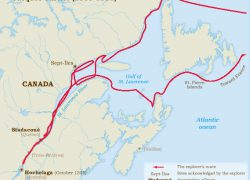 Jacques Cartier Route Map: Jacques cartier route map from historymuseum 1