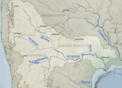 Krishna river map from commons 4