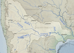 Krishna river map from commons 9